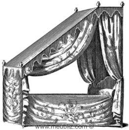 Lit en tombeau de la résidence montréalaise de la famille de La Pelleterie